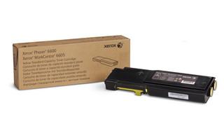 Тонер-картридж Xerox PH6600/ WC6505 Yellow (106R02251)