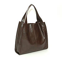 Кожаная сумка модель 12 шоколадный флотар, фото 1