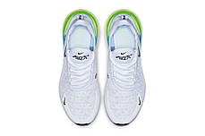 "Кроссовки Nike Air Max 270 ""Белые\Синие\Зеленые"", фото 3"