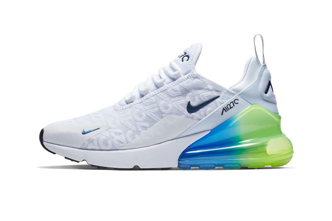 """Кроссовки Nike Air Max 270 """"Белые\Синие\Зеленые"""""""