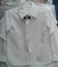 Красивая нарядная подростковая школьная блуза с длинным рукавом