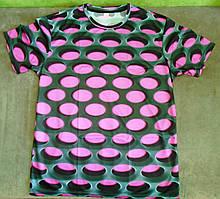 Яркая футболка Больших размеров XXXL 4XL рисунок 3d эффект притягивает взгляды!