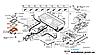 Кронштейн выключателя с прокладкой аккумуляторной батареи Nissan Leaf ZE0 / AZE0 (10-17) 297C6-3NA0A