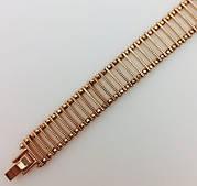 Браслет,  Сороконожка длина 19 см ширина 11 мм ювелирная бижутерия