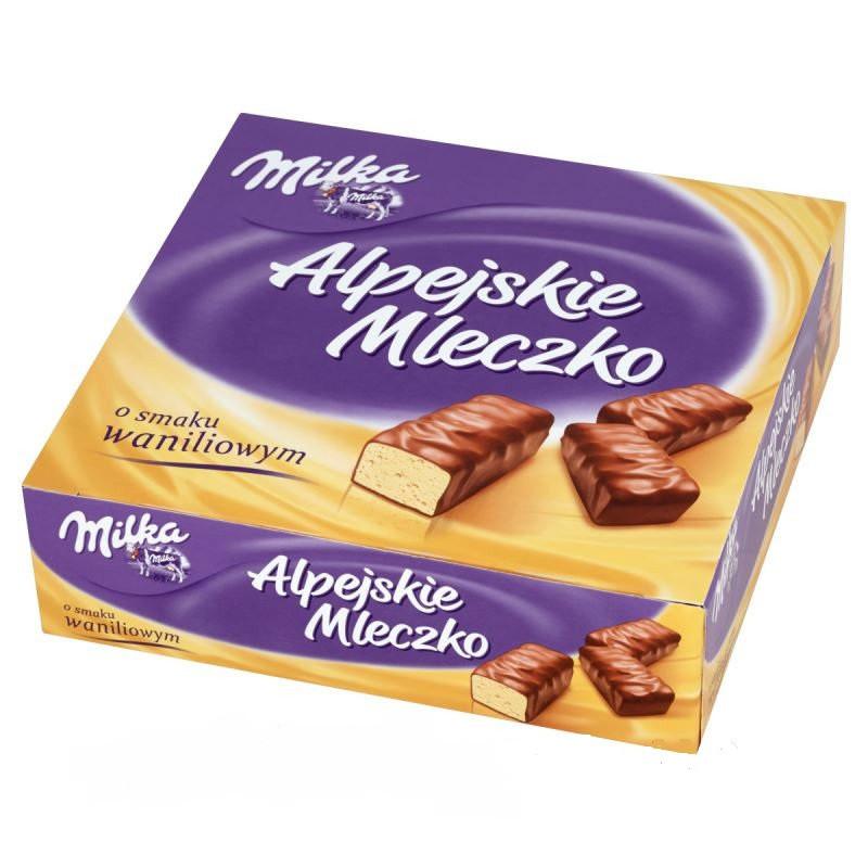 Milka Alpejskie Mleczko o smaku Waniliowym 330 г