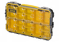 """Органайзер 2/3 мілкий з прозорою кришкою Stanley """"Fatmax Pro"""" 14 лотків 43 х 27 х 6.4 см"""