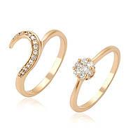 Кольцо XP Два кольца, размер кольца  20 позолота 18К
