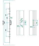 1600 SP-М  Механизм (привод) поворотный стальная серцевина (15,5) 1600 для ПВХ окон, фото 2