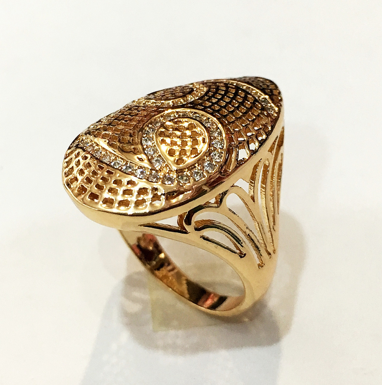 Перстень женский Афина, размер 17 ювелирная бижутерия XP