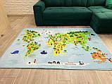 """Безкоштовна доставка! Килим в дитячу """"Карта світу"""" (1.45*1.95 м) утеплений, фото 3"""