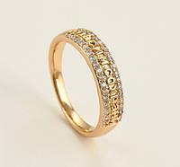 Кольцо XP Спаси и сохрани камни по бокам, размер кольца  16, 17, 18,  20 позолота 18К, фото 1