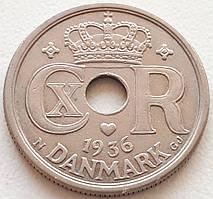 Дания 25 эре 1936