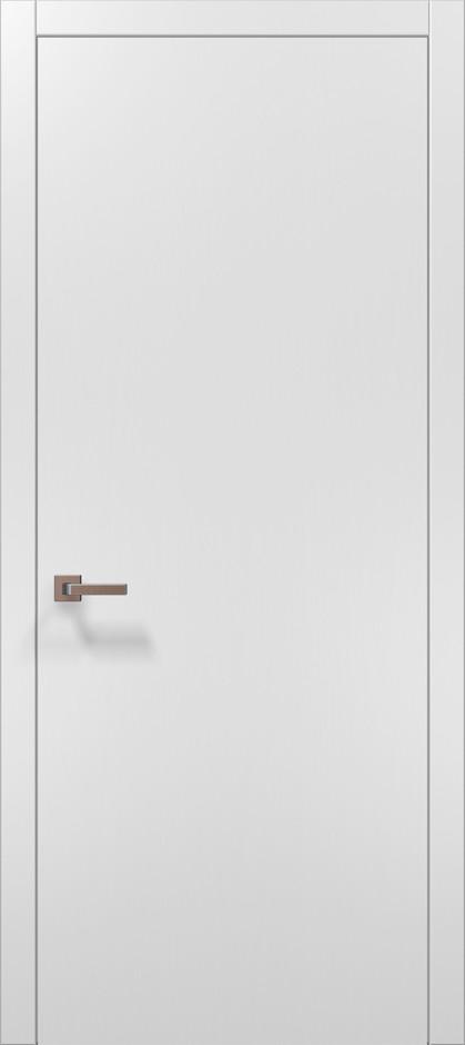 Дверное полотно 2000х910х40 Папа Карло PLATO PL-01  белый матовый