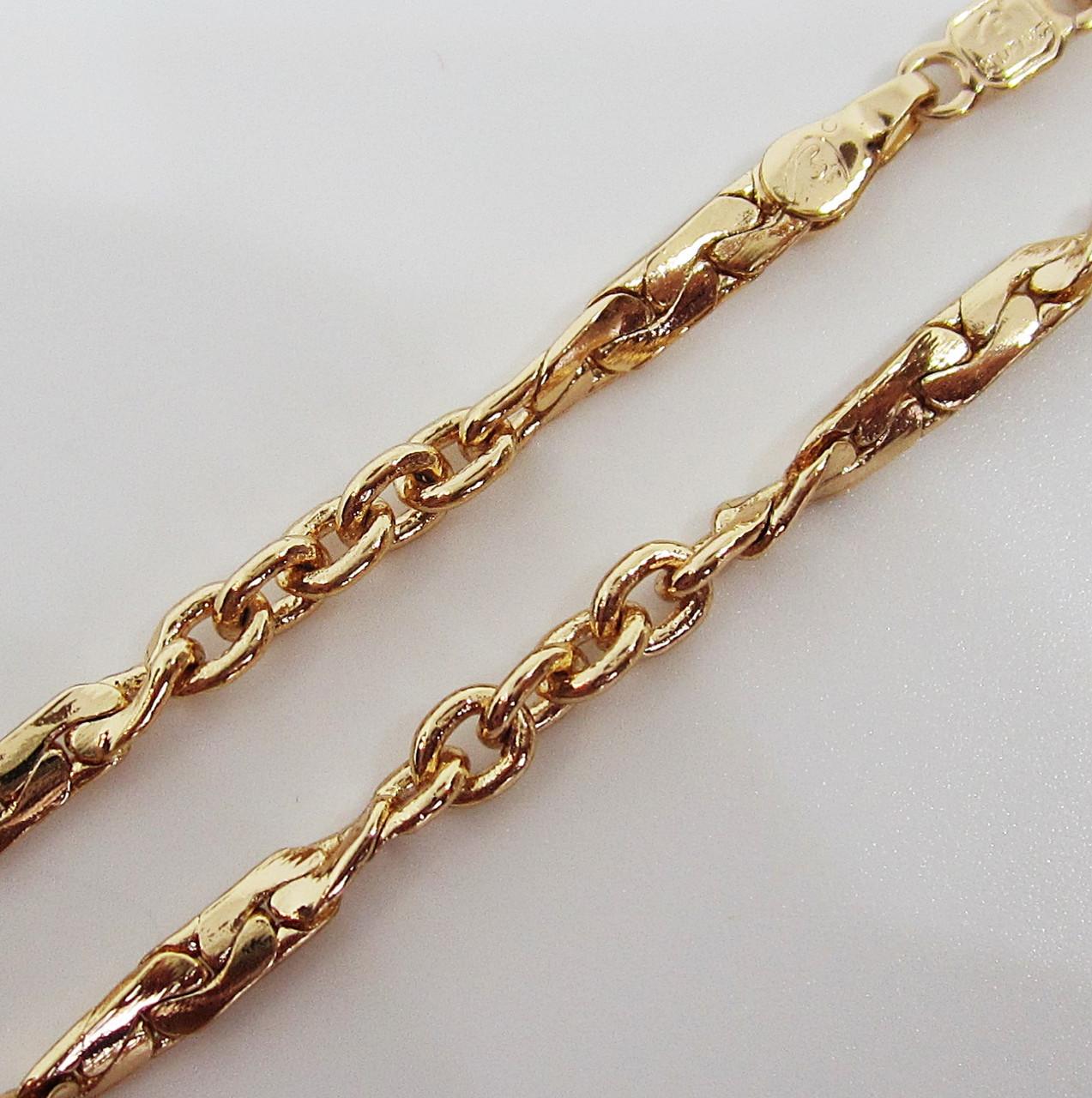 Цепочка плетение Комбинированное 58 см. ширина 3 мм