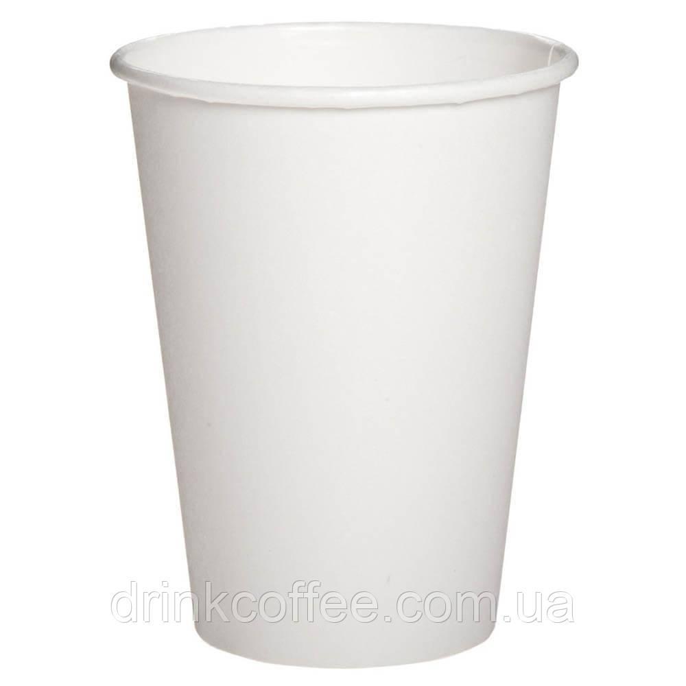 Бумажные стаканчики белые 340мл 50шт.уп