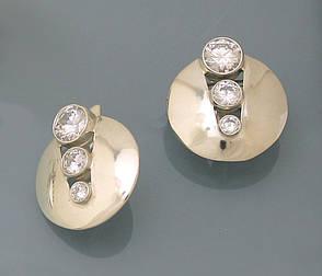 Серьги из серебра 925 пробы с цирконием., фото 2