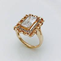 Кольцо перстень в камнях, размер 18