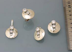Серьги из серебра 925 пробы с цирконием., фото 3