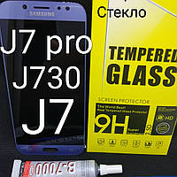 Дисплей екран для Samsung Galaxy J7 J730F / DS, J730FM silver, сірий, блакитний, фото 1