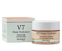 Крем для лица BIOAQUA  V7 Deep Hydration увлажняющий с тональным эффектом 50 г