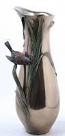 Настольная ваза Птичка в тростнике бронзового цвета Размер 34 см купить подарок в интернет магазине.