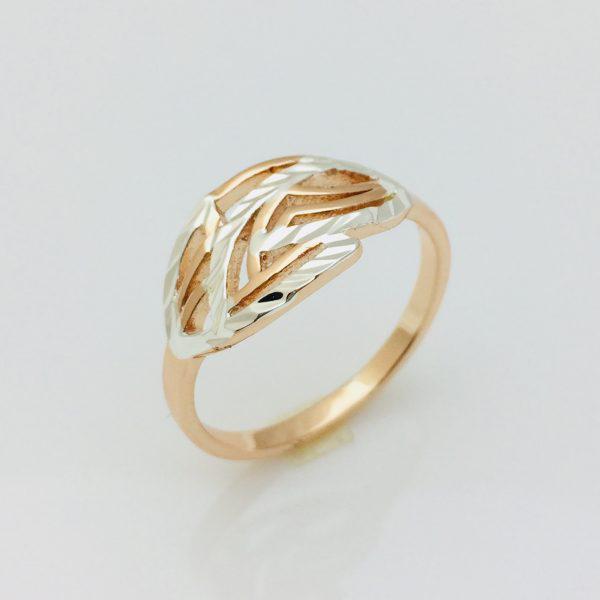 Кольцо Листок, размер 17, 18, 19, 20, 21 позолота 18К Fallon