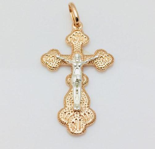 Крест Православный, позолота 18К Fallon