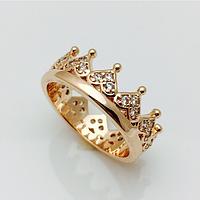 Кольцо корона богатая, размер 19