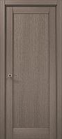 Дверное полотно 2000х610х40 Папа Карло Millenium ML-00Fc Дуб серый брашированный