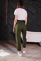 Стильные женские штаны с накладными карманами - черные, хаки, фото 2