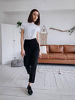 Стильные женские штаны с накладными карманами - черные, хаки, фото 8