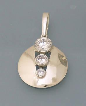 Кулон из серебра 925 пробы с цирконием., фото 2