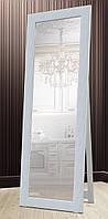 Зеркало напольное в раме Factura с деревянной подставкой White cube 60х174 см белый, фото 1