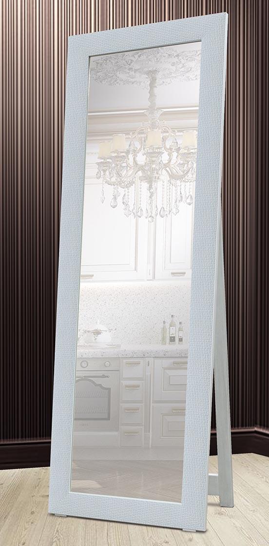 Зеркало напольное в раме Factura с деревянной подставкой White cube 60х174 см белый