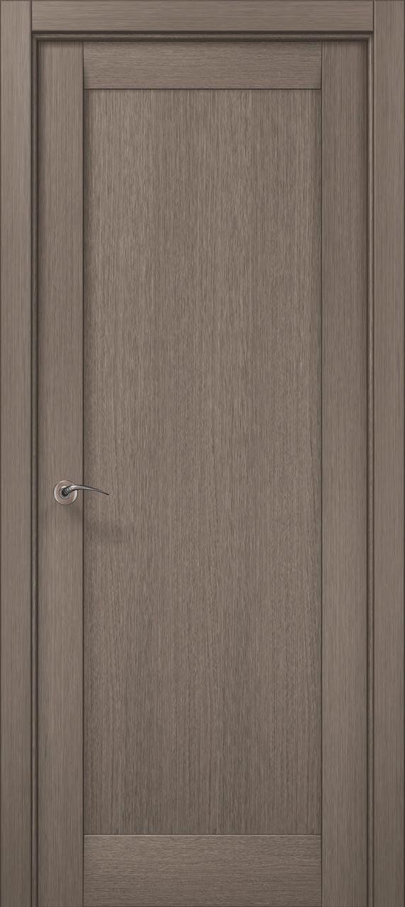 Дверное полотно 2000х810х40 Папа Карло Millenium ML-00Fc Дуб серый брашированный