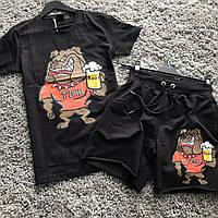 Комплект футболка и шорты TDH черный