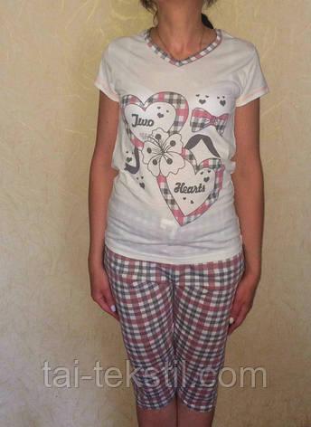 Пижама женская футболка и капри хлопок Турция MISS LALE № 10015, фото 2