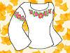 """Заготівля для вишивки жіночої сорочки на водорозчинному флізелін """"Мальви"""""""