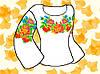 """Заготовка для вышивки женской сорочки на водорастворимом флизелине """"Розы, мальвы, васильки"""""""