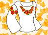 """Заготовка для вышивки женской сорочки на водорастворимом флизелине """"Маки"""""""