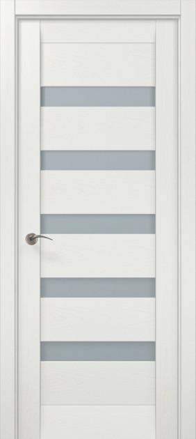 Дверное полотно 2000х710х40 Папа Карло Millenium ML-02 Белый ясень