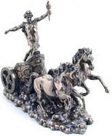 Настольная статуэтка Аполлон на колеснице из полистоуна с бронзовым напылением Veronese