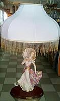 """Эксклюзивный торшер ,,Девушка с зонтиком"""",фарфор,позолота,VITTORIO SABADIN,Италия"""