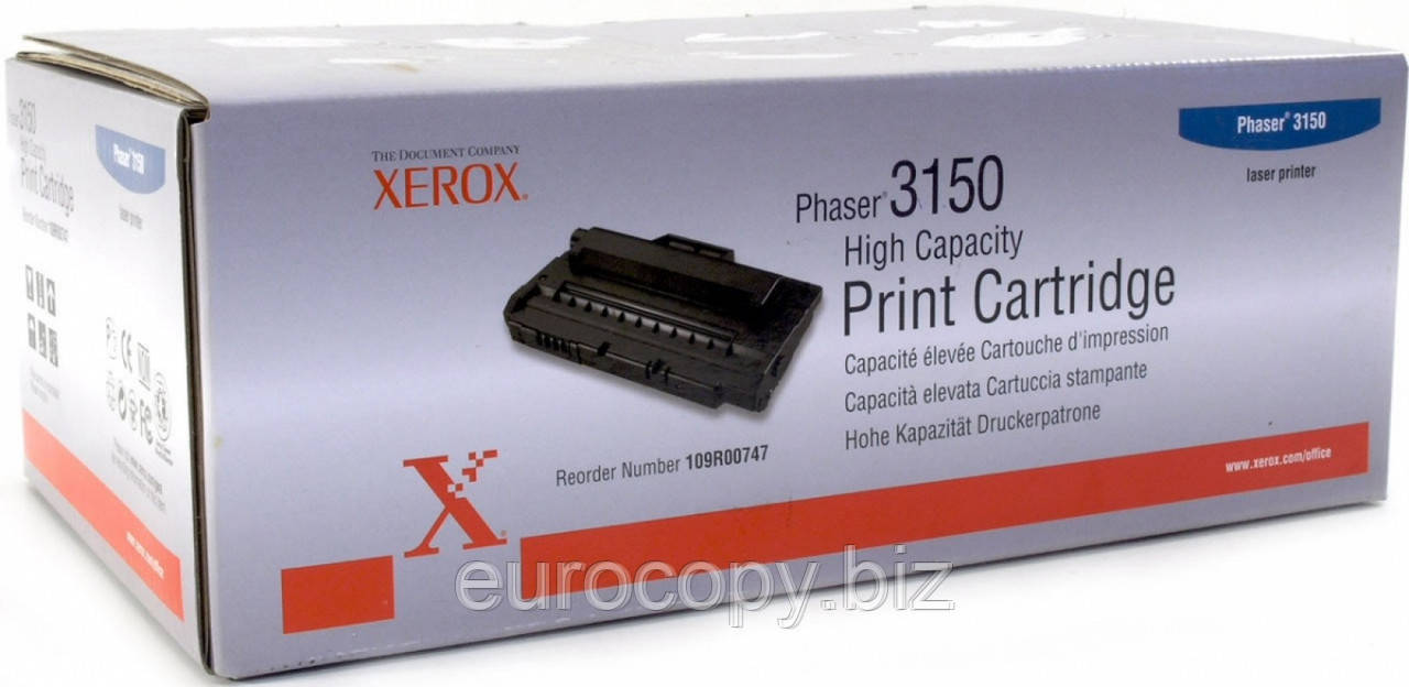 Тонер-картридж Xerox Phaser 3150 (Max) ресурс 5 000 стор. (109R00747) Original