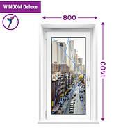 Одностворчатое окно с поворотно-откидной створкой Windom Deluxe