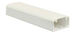 Короб 90х50мм плинтус с крышкой трехсекционный 2м белый RAL 9016