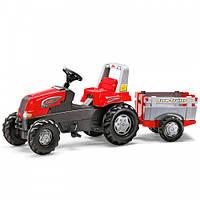 Педальний Трактор з Причепом Junior Rolly Toys 800261, фото 1