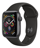 Apple Watch Series 4 GPS 40mm Gray Alumium with Black Sport band (MU662)