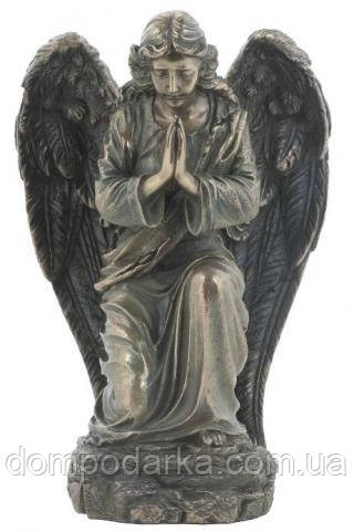 Настільна статуетка Упокорений Ангел з полистоун з бронзовим напиленням Veronese