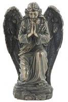 Настольная статуэтка Кающийся Ангел из полистоуна с бронзовым напылением Veronese